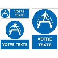 Panneau Obligation d'utiliser passerelle personnalisé