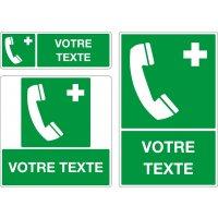 Panneau Téléphone d'urgence personnalisé