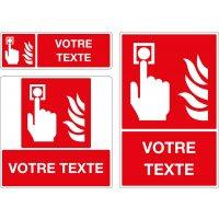 Panneau Bouton alarme incendie personnalisé