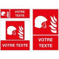 Panneau Equipement incendie personnalisé