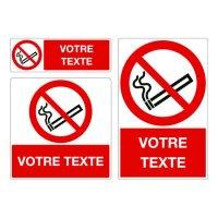 Panneau Défense de fumer personnalisé