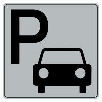 Plaque de porte en plexi fond gris Parking