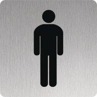 Signalétique en Inox Toilettes hommes