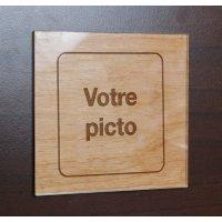 Plaque bois gravée personnalisée + Plexi