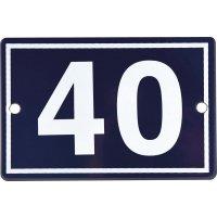 Numéro de maison en plaque émaillée 1 à 2 chiffres
