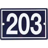 Numéro de maison en plaque émaillée 3 chiffres