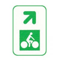 Panneau de jalonnement des pistes cyclables Flèche