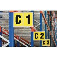Lettres ou chiffres pour support en aluminium