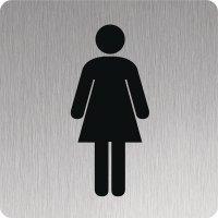 Signalétique Alu anodisé brossé Toilettes femmes