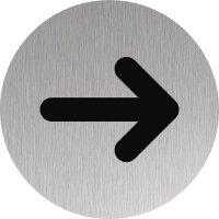 Signalétique Alu anodisé brossé symbole Flèche