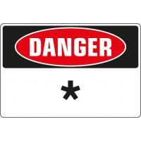 Panneaux Danger avec texte personnalisé