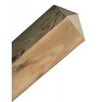 Mât en bois carré 120 x 120 mm hauteur 1500 mm