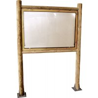 Planimètre Creativ bois +vitrine recto ou recto/verso