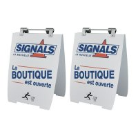 Lot de 2 chevalets personnalisables