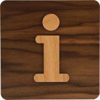 Plaque de porte en bois bi-matière Informations