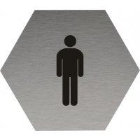 Signalétique Alu anodisé brossé Toilettes hommes