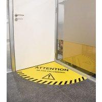 Balisage au sol d'ouverture de porte adhésif 90° ou 180°
