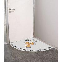 Balisage au sol ouverture de porte adhésif 90° ou 180°