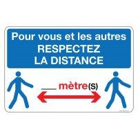 Panneau PVC Respectez la distance de sécurité