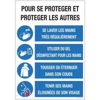Poster gestes prévention pour se protéger