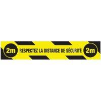 """Marquage au sol """"Respectez la distance de sécurité"""""""