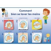 Poster lavage des mains pour les Enfants
