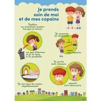 Poster gestes barrières pour les Enfants