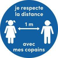 Poster respect des distances de sécurité Enfants