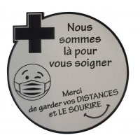 Lot de 5 badges gravés pour soignants