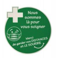 Lot de 5 badges gravés pour soignants