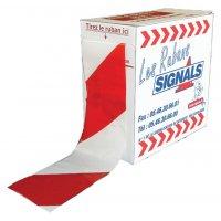 Rubans de signalisation rouge/blanc recto/verso