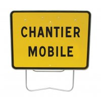 Panneau Galva avec pied solidaire Chantier mobile Cl2