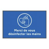 Tapis de distanciation sociale désinfectez les mains