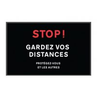 Tapis de distanciation sociale gardez vos distances
