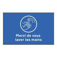 Tapis de distanciation sociale lavez les mains