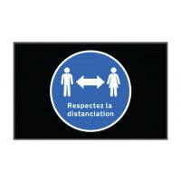 Tapis de distanciation sociale respect distanciation en paysage