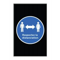 Tapis de distanciation sociale respect distanciation en portrait