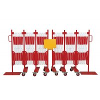 Barrière extensible avec poteau grande longueur