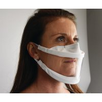 Masque avec fenêtre transparente fabrication française