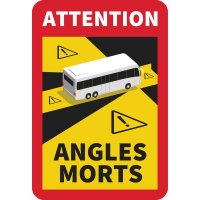 Lot de 3 autocollants angles morts pour bus