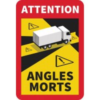 Lot de 5 autocollants angles morts pour camions