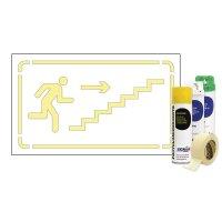 Kit Sol ou mur Pochoir Monter Escalier droite