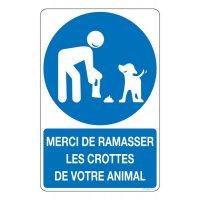 Panneau merci de ramasser les crottes de votre animal