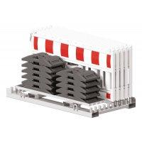 Kit 10 barrières de chantier amovibles sur socles