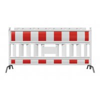 Barrière haute visibilité avec pieds acier