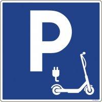 Panneau PVC Parking trottinette électrique