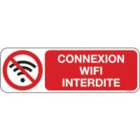 Panneau Connexion wifi interdite picto et texte
