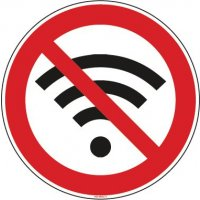 Panneau Connexion wifi interdite picto