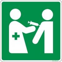 Panneaux zone de vaccination