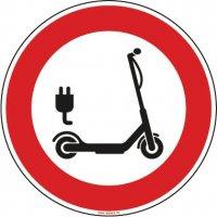 Panneau Trottinette électrique interdite